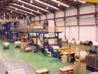 Color coating line for aluminium coils