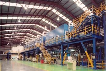 Color coating line for aluminium coils