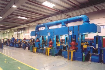 Continuous casting with hot rolling and 3 stands cold rolling tandem line for no